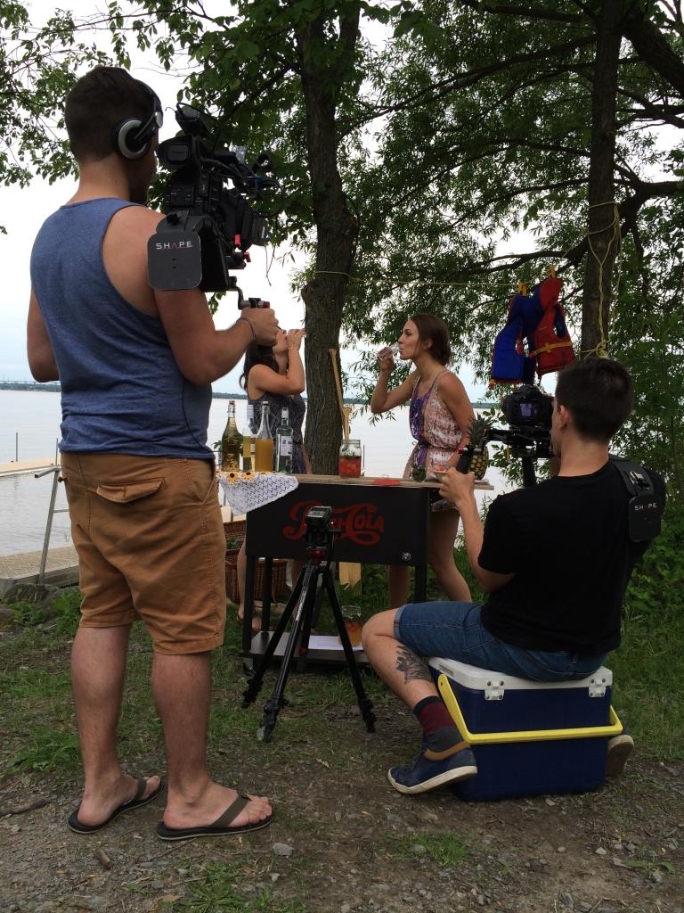 Photo prise lors du tournage de l'épisode #2