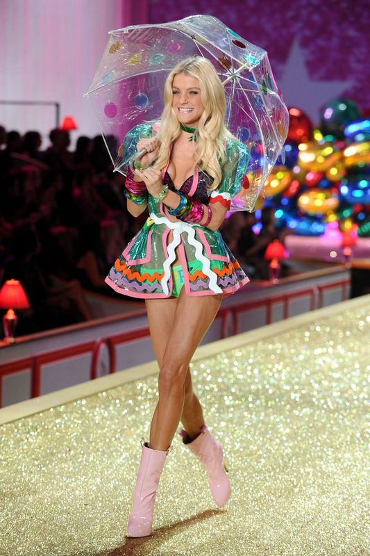 walks the runway during the 2010 Victoria's Secret Fashion Show at the Lexington Avenue Armory on November 10, 2010 in New York City.