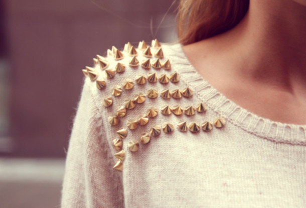 qybm0s-l-610x610-sweater-clothes-studs-studded-pullover-white-spikes-white+sweater-rivets-spiked+sweater-gold+spike-gold+spikes-cardigan